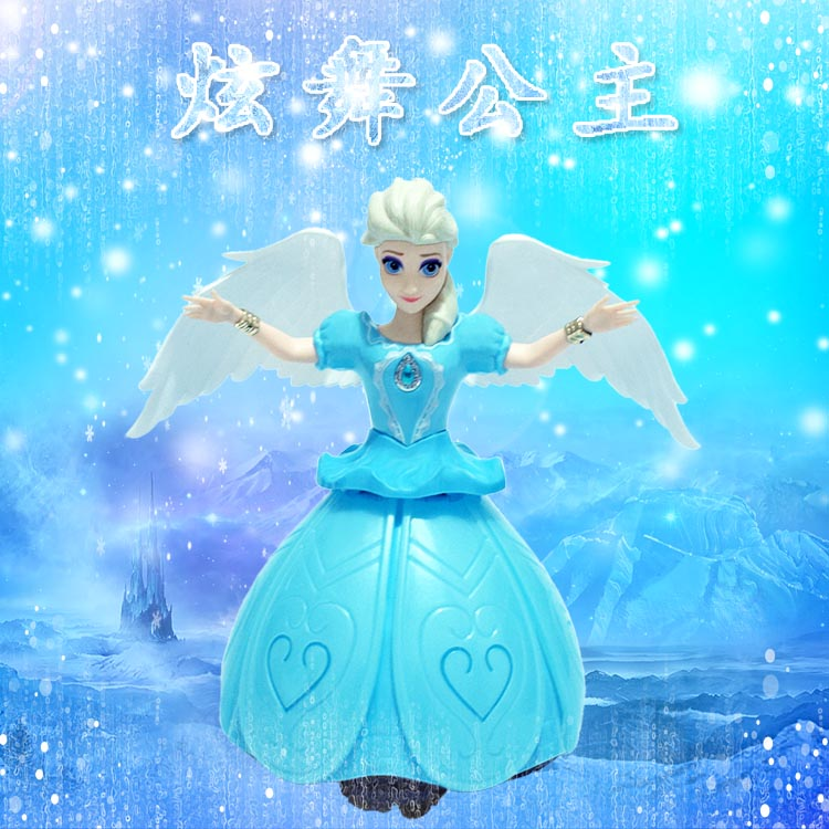 New childrens toys electric Dancing Princess luminous music spinning dancing Angel creative doll gift