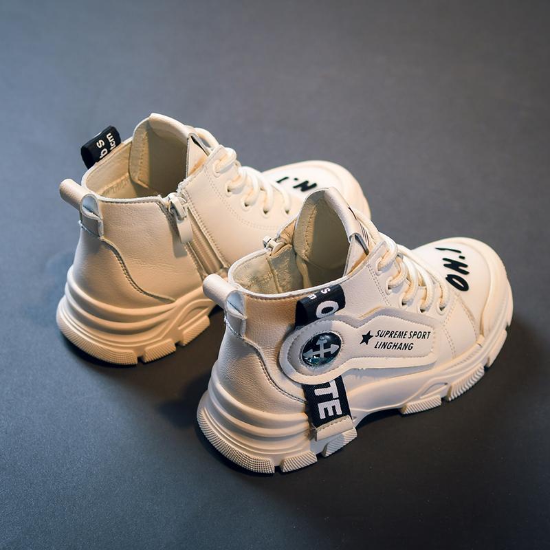 男童马丁靴2020新款秋冬季加绒雪地靴儿童短靴子男童棉鞋小女童鞋