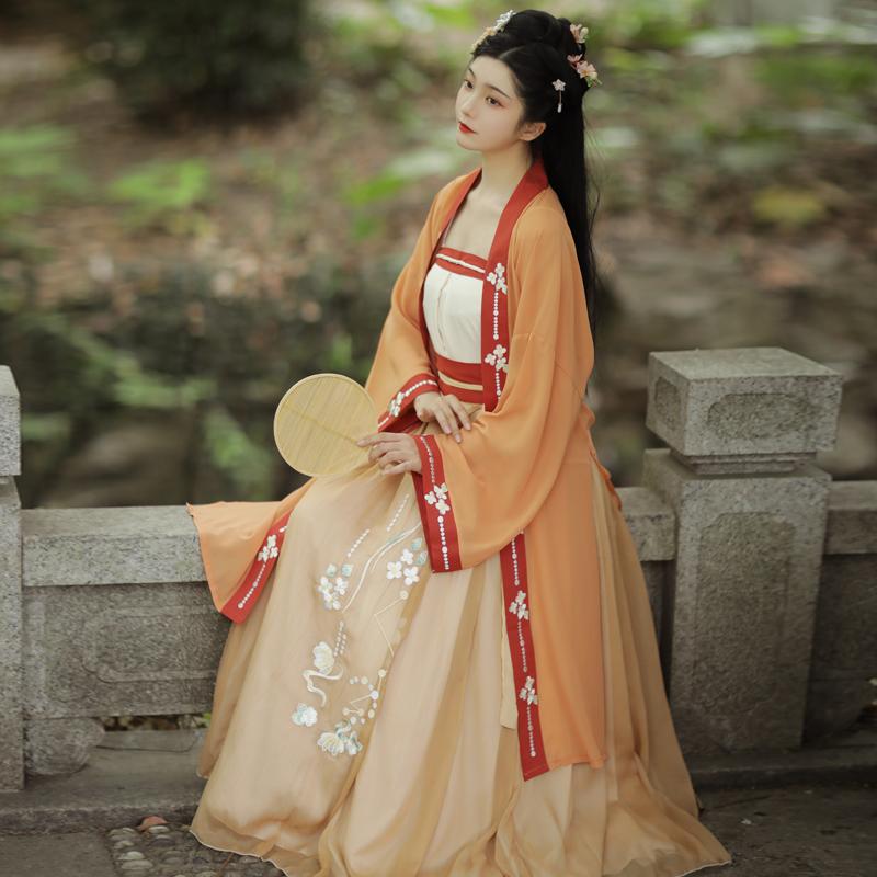 古装正品原创中国风宋制三件套汉服