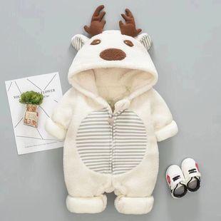 初生婴儿3秋冬装连体衣冬季爬服 新生儿6满月宝宝女衣服9男12秋季