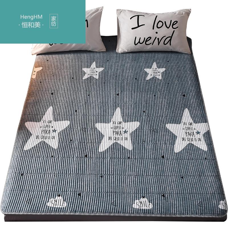 恒和美全棉防滑床褥床垫保护垫榻榻米双1.8m床褥子学生垫被春夏软,可领取100元天猫优惠券