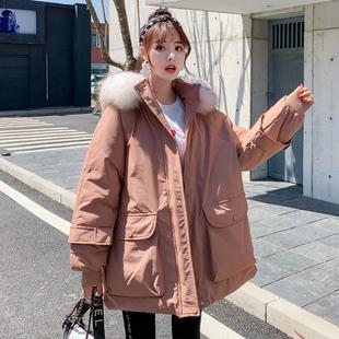 羽绒棉服女2019年新款ins港风韩版学生宽松棉衣中长款冬季外套潮图片
