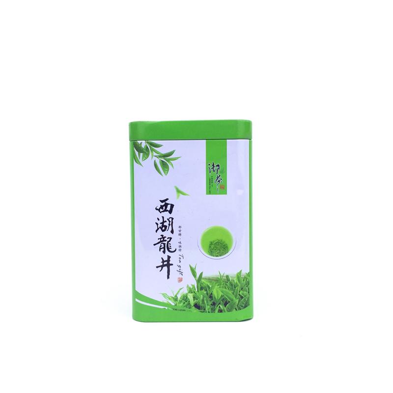 50-100克 西湖龙井茶  新款 绿茶茶叶罐 铁罐 空包装罐 铁盒包邮