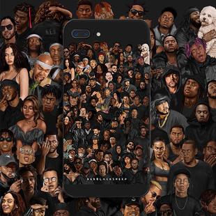 美國hiphop嘻哈適用蘋果12pro手機殼oppo vivo 三星 小米軟殼定製