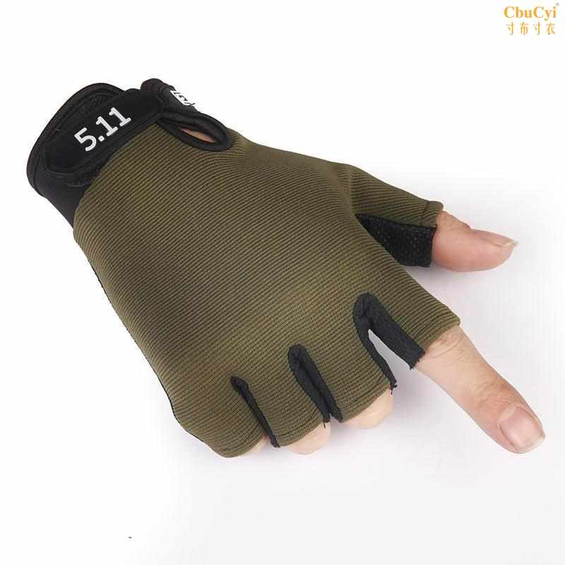 Mens Half Finger Gloves mens tactical cyclists new special anti-skid transplanting and tug of war fishing cross-country