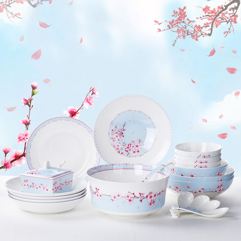Mrs. Bakers Japanese tableware set high grade bone china bowls, dishes, bowls, dishes, gifts, net red tableware, creative bowls and utensils