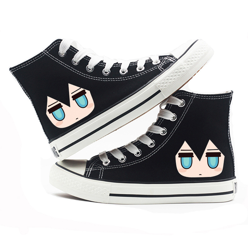 Black rock shooter casual shoes BRS blackened initial sound animation boys and Girls Summer girls high top shoes