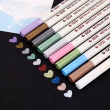 コスタSTAメタリック真珠色のマーカーペン落書き塗装アルバムDIYペイントペン黒カードの特殊なペン