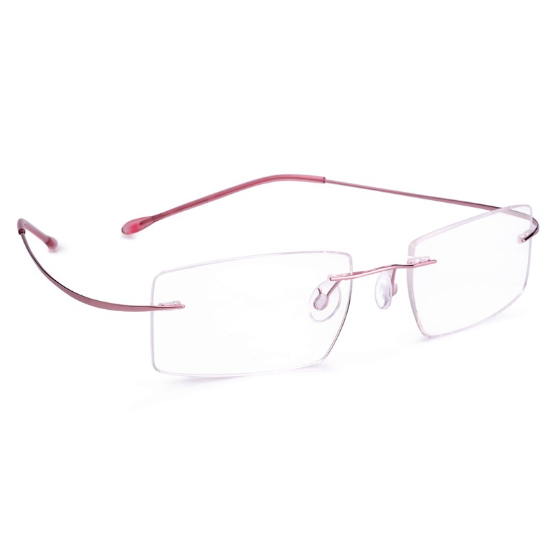 Net red imported pure titanium alloy myopia glasses frame glasses frame for mens and womens ultra light memory rimless glasses