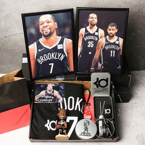 关于篮球的生日礼物杜兰特球星玩偶礼盒创意个性运动手环纪念品
