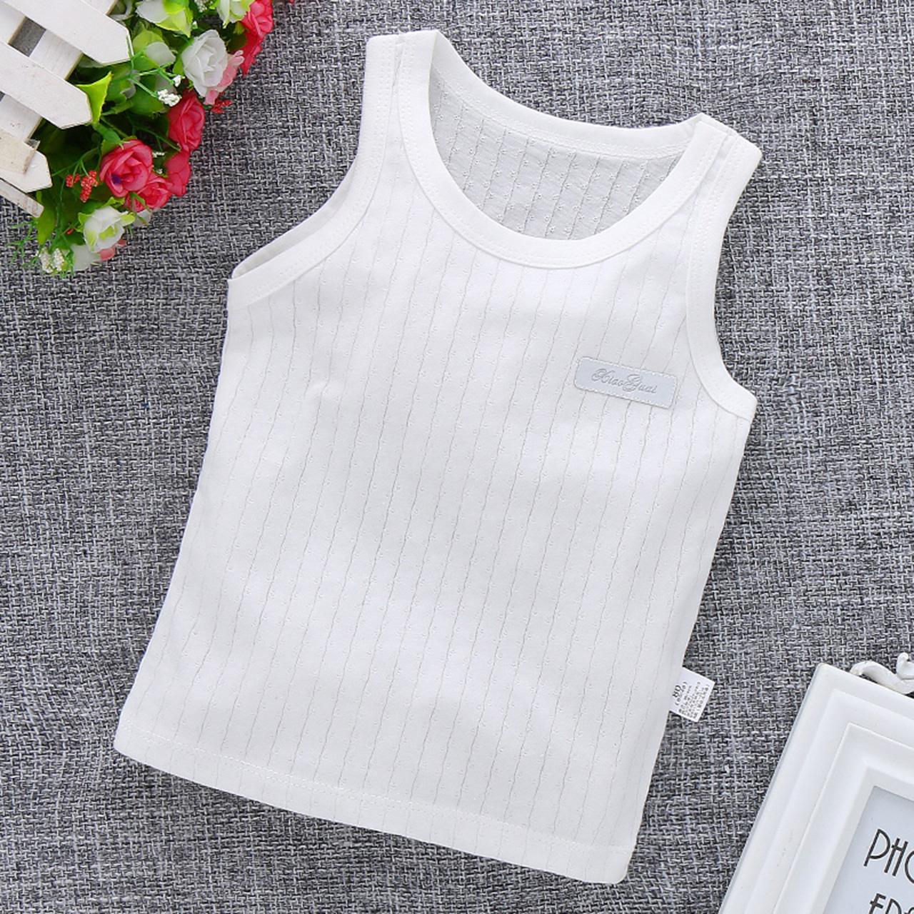 婴儿小背心纯棉薄款中大儿童夏季吊带护肚内穿外女童男童宝宝无袖