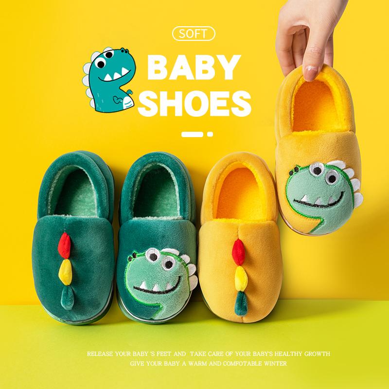 儿童棉拖鞋包跟冬季男女童拖鞋宝宝室内家用防滑小孩亲子家居棉鞋