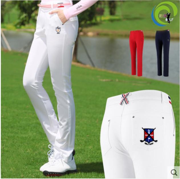 高尔夫衣服 女士长裤球服 夏秋季裤子 修身高弹显瘦女装 防晒透气