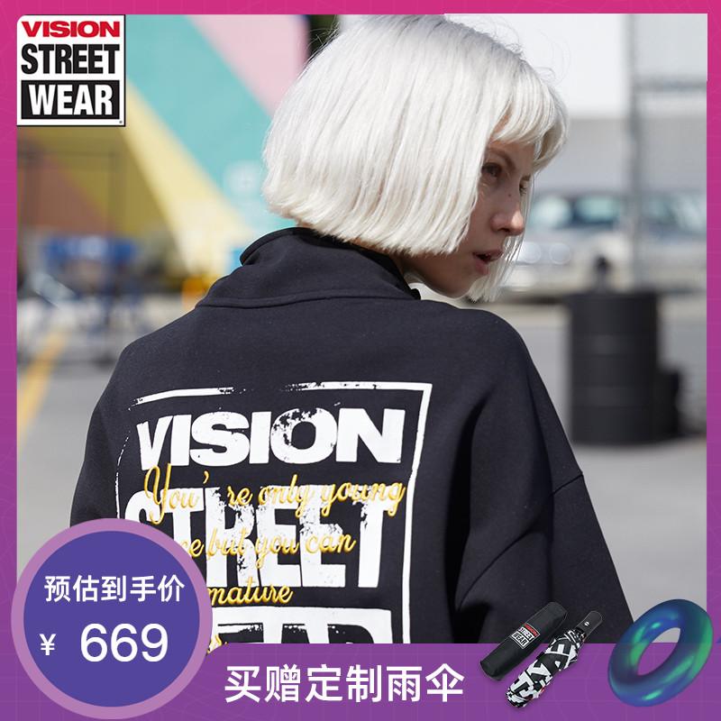 VISION STREET WEAR2019新款字母LOGO印花卫衣男卫衣女V193NB4018
