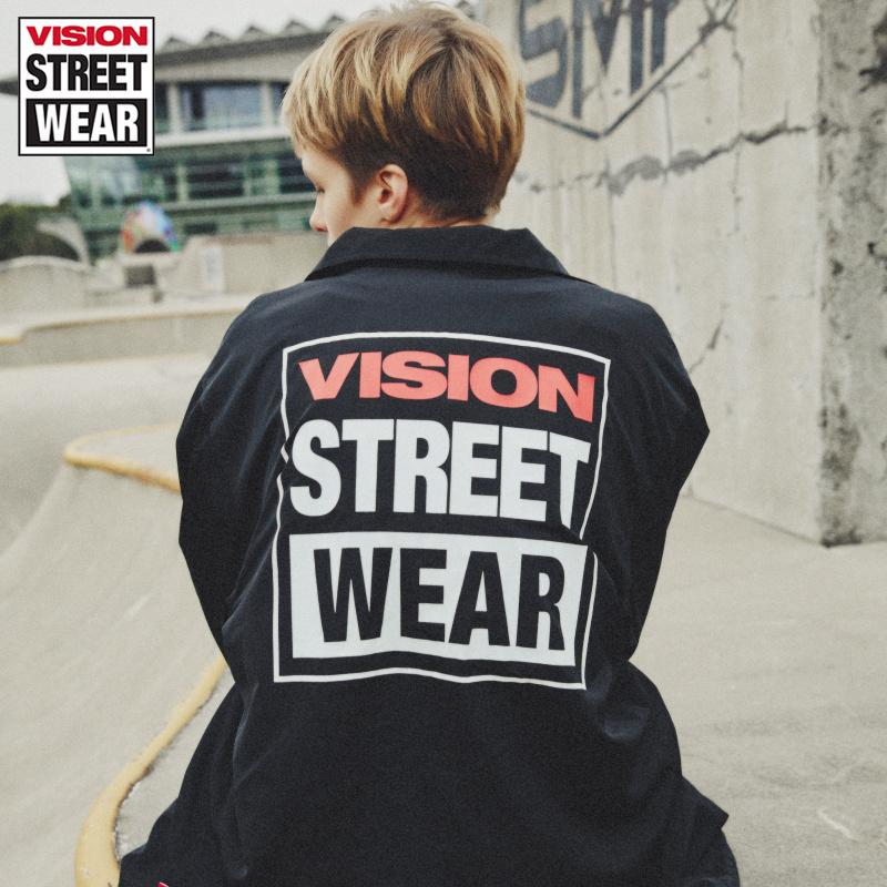 VISION STREET WEAR男女同款簡約字母夾克春季新款