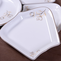Shake sound of the same ceramic combination Platter Plate reunion tableware round deep plate seafood family dinner dish Home