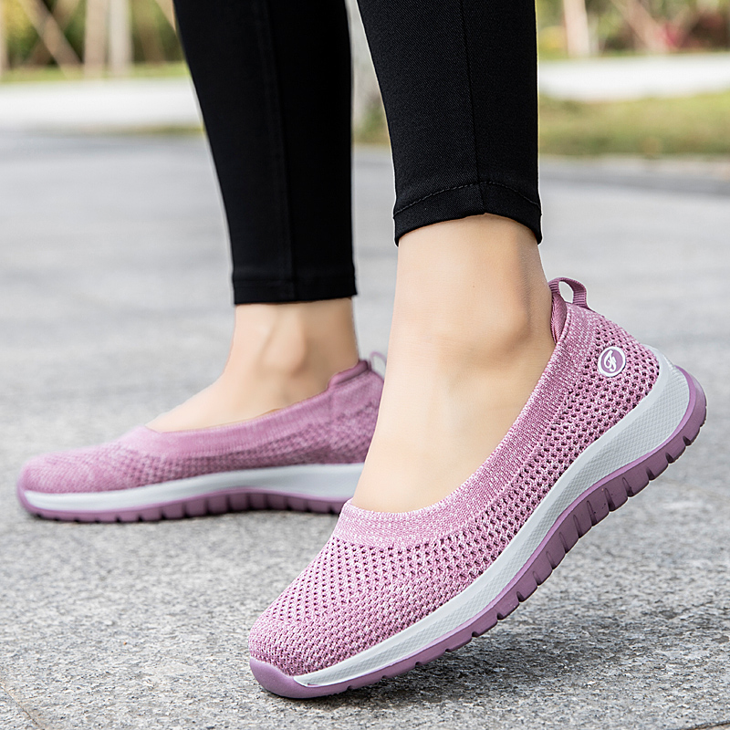 Old Beijing cloth shoes womens comfortable shoes summer light walking shoes for middle-aged and old people
