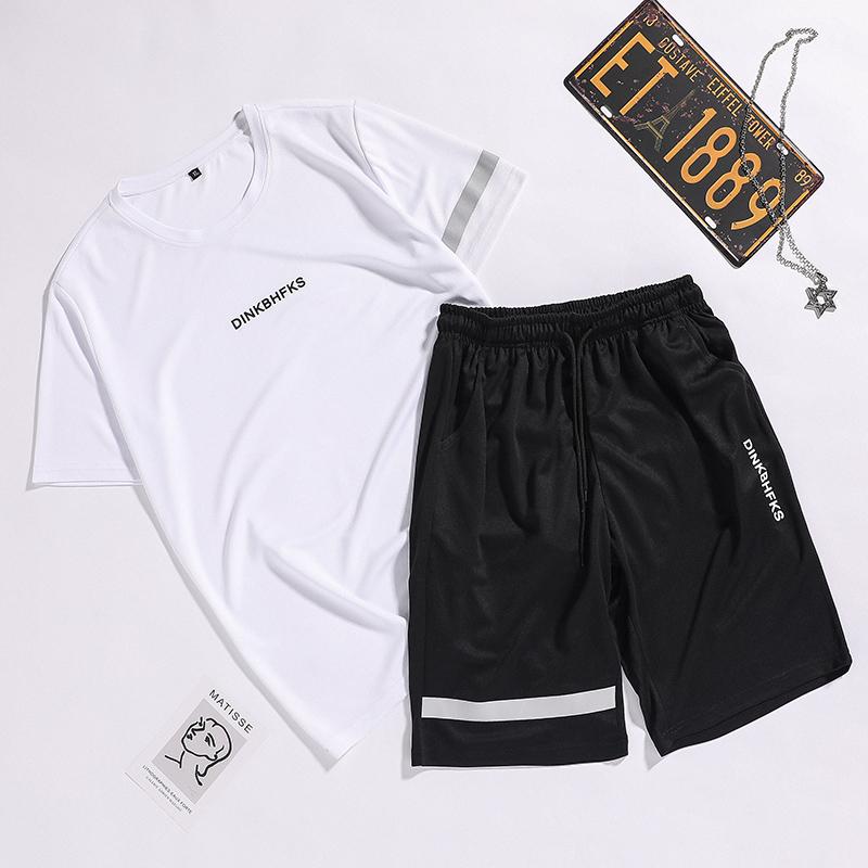 2020夏季新款男士短袖t恤潮牌潮流衣服帅气青少年休闲搭配短裤
