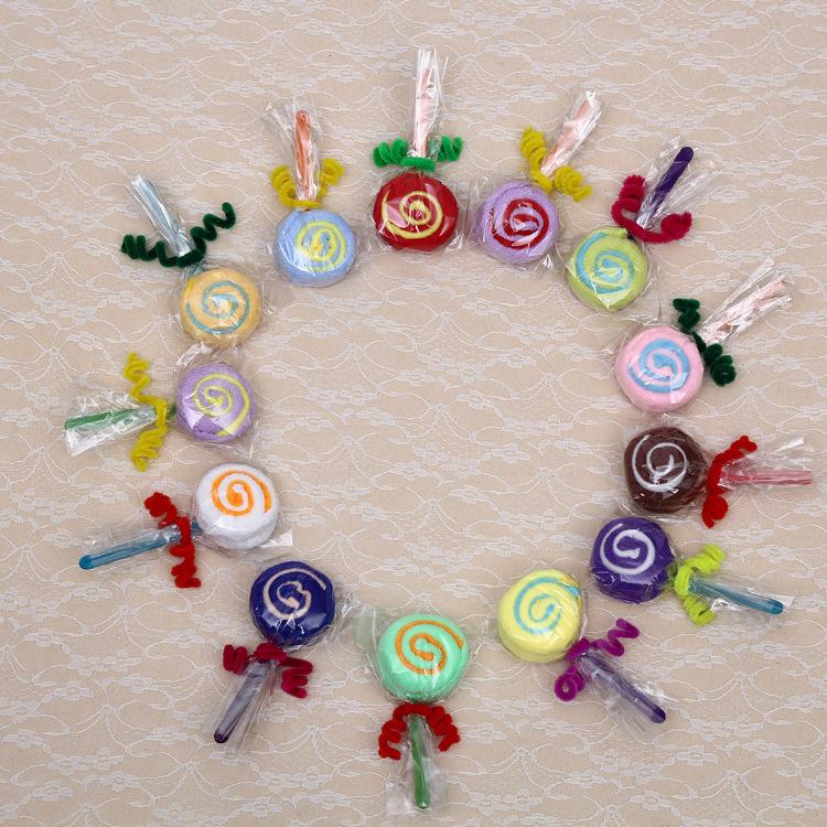 Childrens Day cake towel lollipop wedding birthday gift candy creative gift