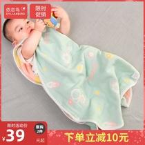 婴儿睡袋春夏季薄款防踢被宝宝无袖新生儿纯棉纱布睡袋婴幼儿背心