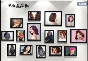 饰画理发店照片相册 有框实用工作室美容院发廊女美发图片发型装