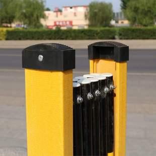 施工防护栏围栏电力安全绝缘玻璃钢圆管式 硬质伸缩围栏可移动隔离
