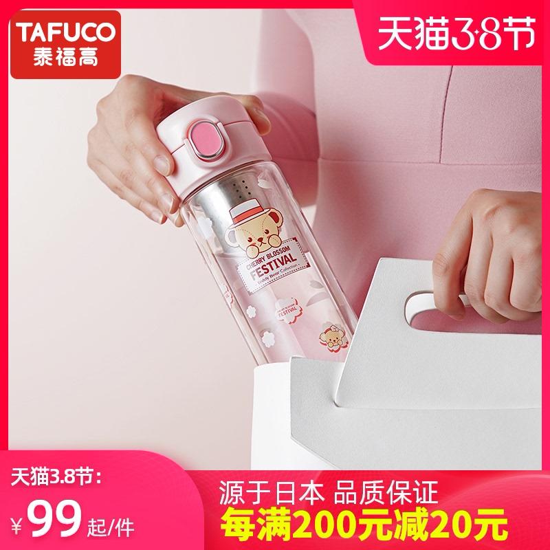 日本泰福高玻璃分离女家用透明杯子