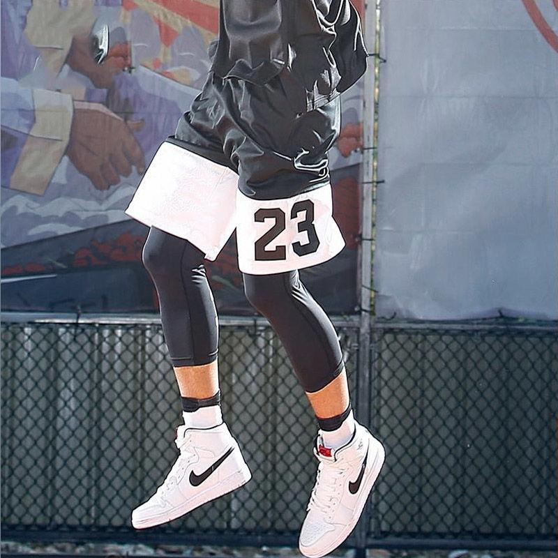 篮球裤运动短裤夏季过膝男士大码宽松速干五分裤跑步健身裤运动裤