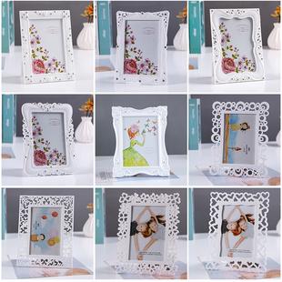 相框摆台7寸56寸8 10寸创意儿童婚纱照片框相架 简约现代白色