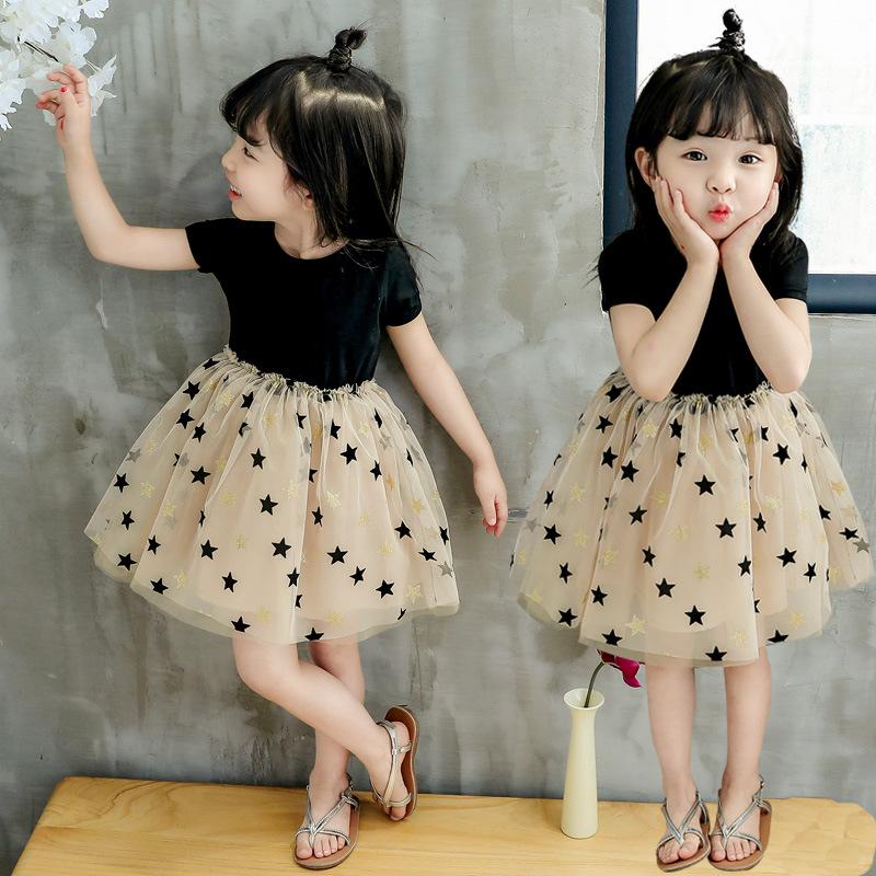女童夏装连衣裙2021新款韩版小宝宝幼儿童洋气潮公主网纱蓬蓬裙子