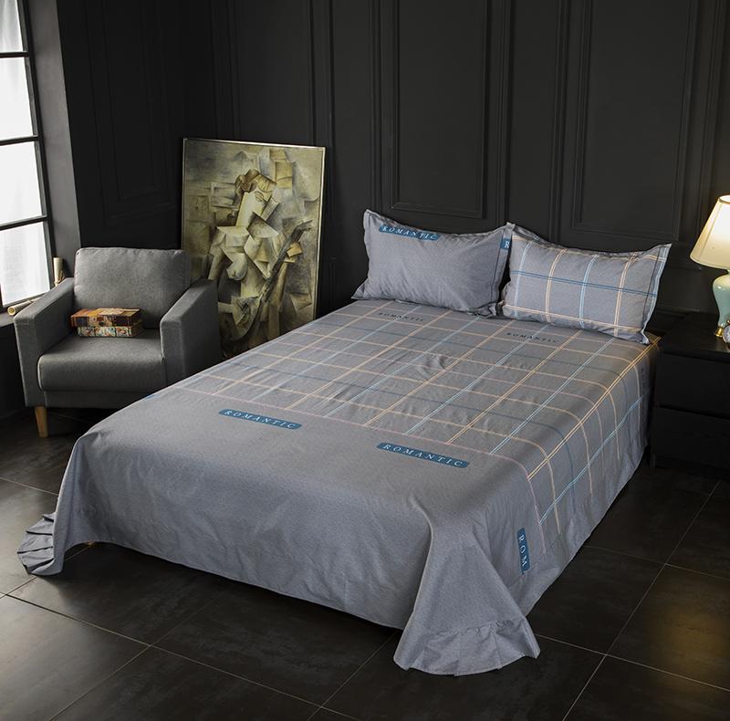 纯棉磨毛床单1.5米1.8床单件2.3*2.5/2.7米加厚被单3米大尺寸订做