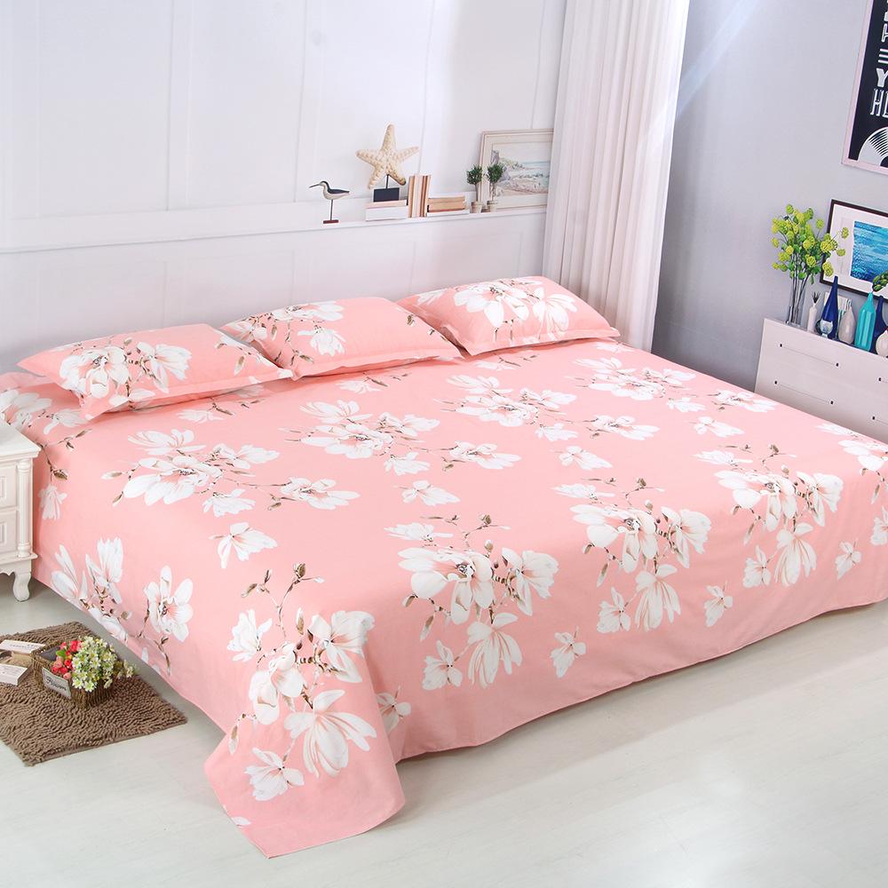 定做100%純棉3米大炕單3.5m加厚加大雙人榻榻米全棉床單單件被單