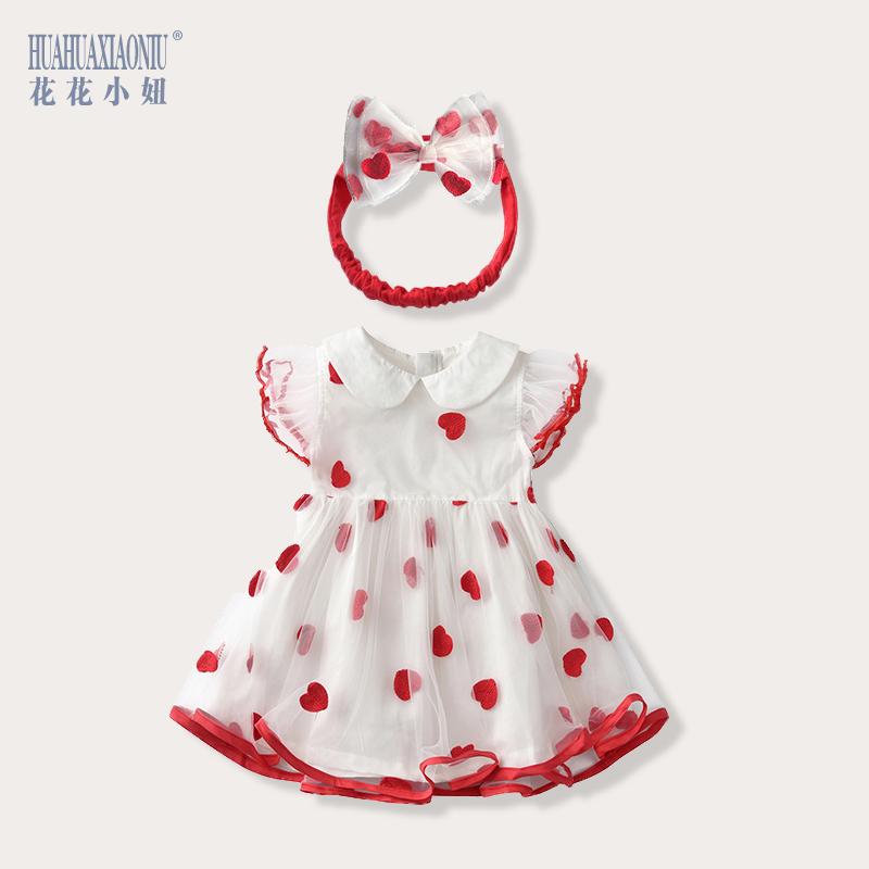 女童連衣裙夏純棉小女孩公主裙洋氣嬰兒夏裝蓬蓬紗裙網紅寶寶裙子