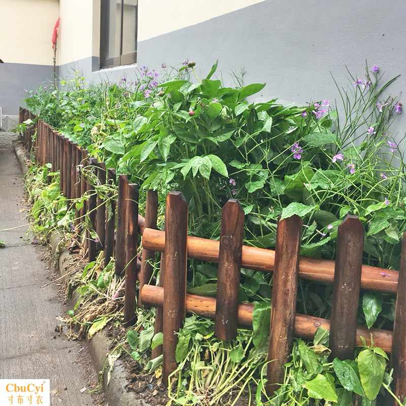 Outdoor planting, outdoor wood lawn, garden, yard fence, home gardening, decoration, garden fence, small fence