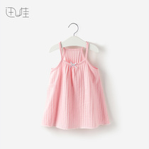 3岁1女童上衣夏天夏季婴儿背心吊裙女宝宝小吊带衫纯棉薄款夏装0