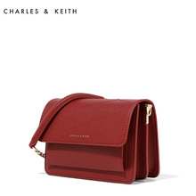 Charles & Keith small square bag ck2-80780285 European and American organ fold single shoulder bag with Crossbody female wedding bag