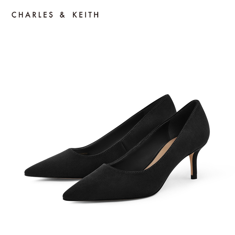 CHARLES&KEITH2020 autumn and winter new products CK1-60280272 ladies simple pointed high-heeled shoes
