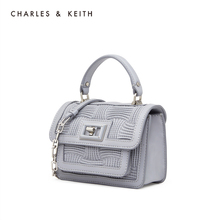 Charles & Keith women's bag ck2-50270344 flip chain women's shoulder bag