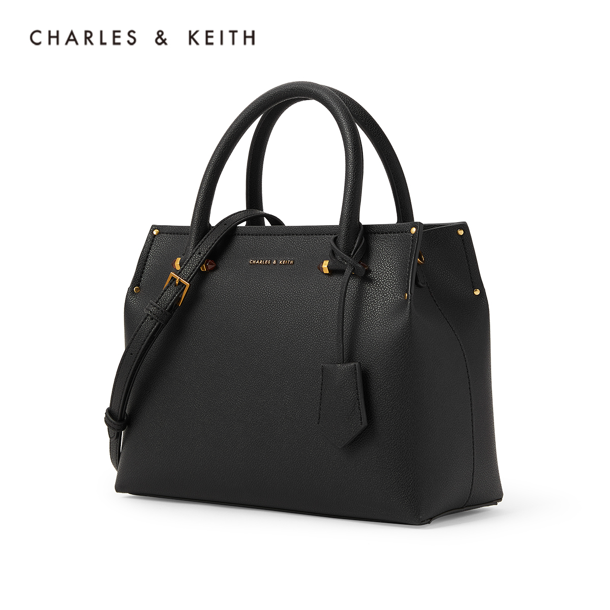 Charles & Keith Large-capacity handbags CK2-30781351 ladies simple hanging card handwritten shoulder bag