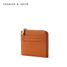 Charles & keith2020 summer new product ck6-30701029-2 women's simple zipper card bag wallet