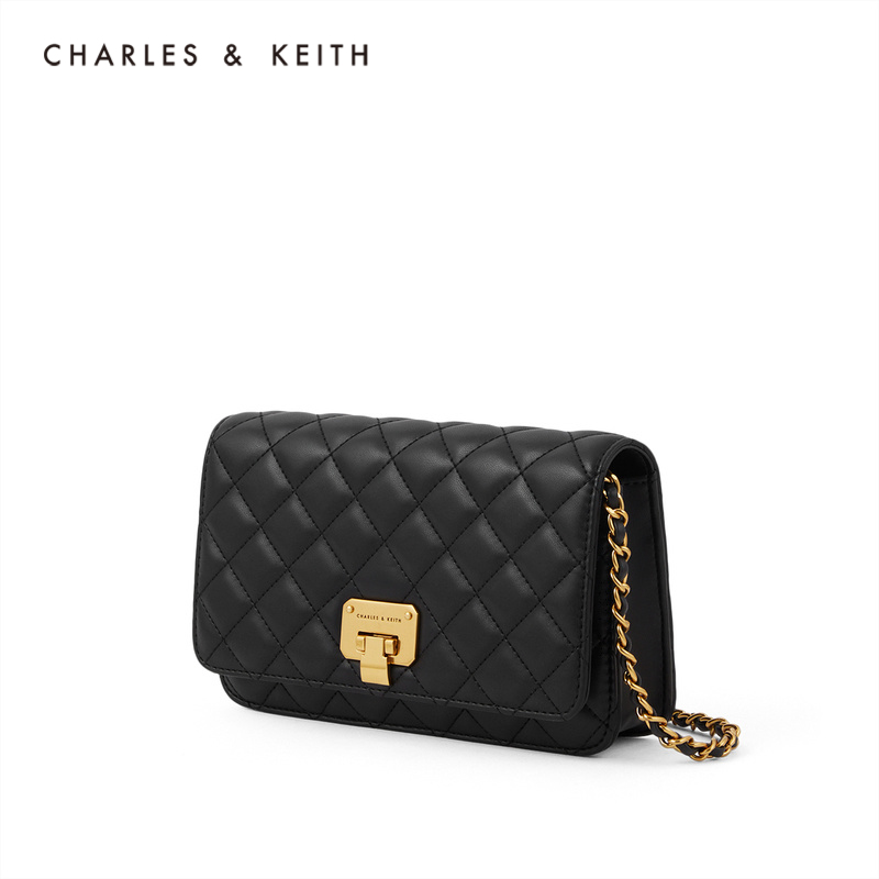 CHARLES&KEITH2020 autumn and winter new products CK2-70160082-2 ladies diamond chain crossbody bag