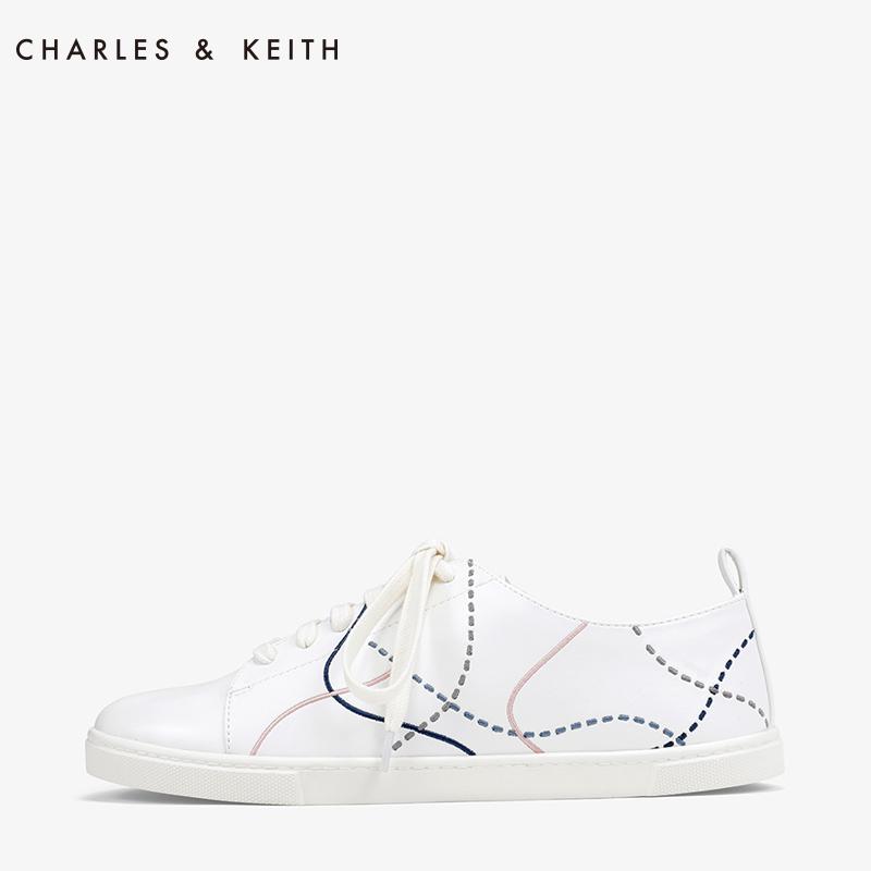 抽象缝线饰女士系带运动鞋A70380708CK1运动鞋KEITH&CHARLES