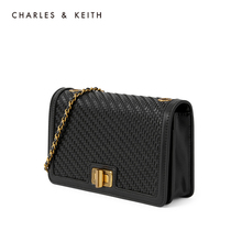 Charles & keith2020 summer new product ck2-70770440-3 women's splicing chain flip shoulder bag