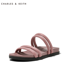 Ms. CHARLES & KEITH Sandals CK1-70380578 Suede Band Comfortable Flat-soled Muller Coupler