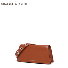 CHARLES & KEITH Single Shoulder Square Pack CK2-20670696 Euro-American Adjustable Shoulder Belt Trapezoid Pack
