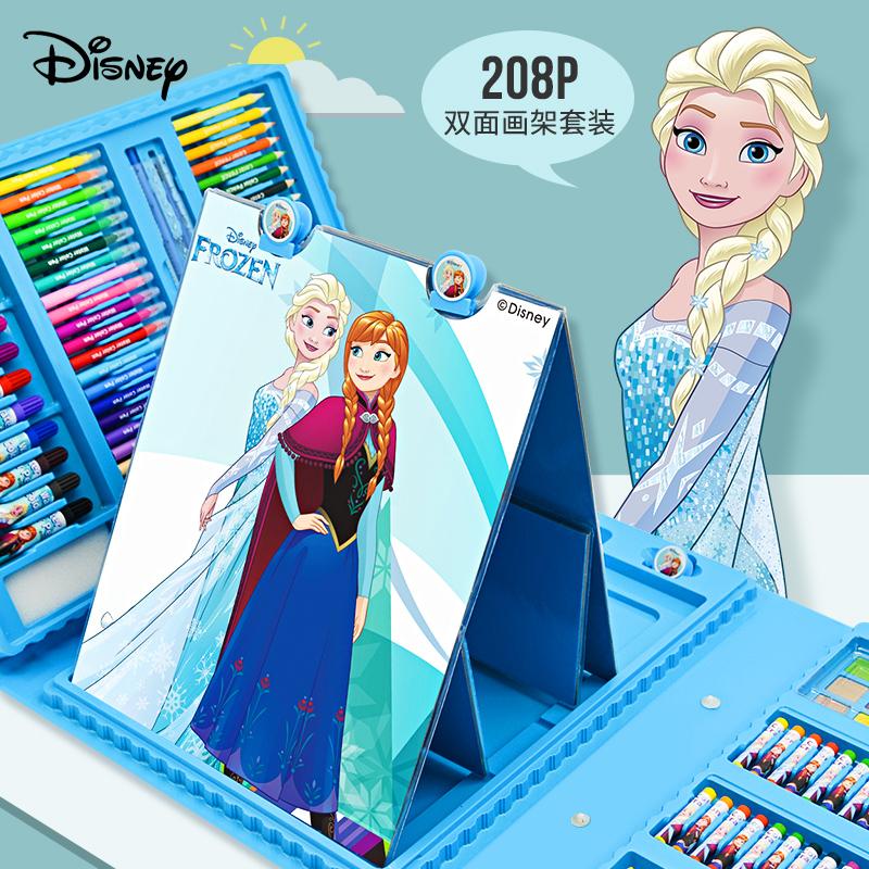 迪士尼儿童水彩笔套装幼儿园画画工具小学生绘画套装可水洗无毒画笔彩笔套盒彩色笔48颜色笔36色礼盒生日礼物