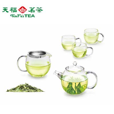 Tianfu's tea large glass pot set small teapot teacup set household transparent glass tea set high temperature resistance