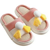亚麻家用室内男童厚底防滑儿童拖鞋评价好不好