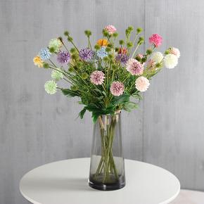 手扎草球 仿真花束塑料绢花插花假花室内装饰花干花摆设客厅摆件