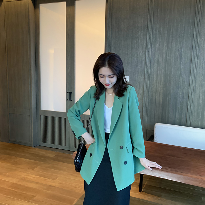 Bogu net red small suit womens autumn and winter new Korean loose casual thin coat professional temperament womens suit